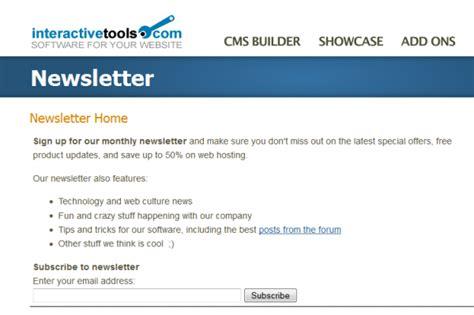 newsletter signup form template add ons plugins newsletter builder