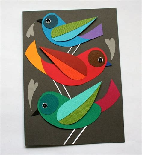 How To Make A Paper Bird That Can Fly - bird card that can a second as wall at