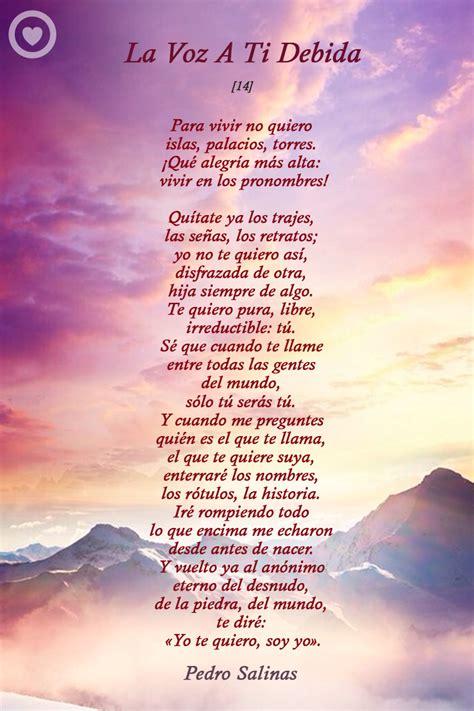 la voz a ti 8437612950 poemas de amor galer 237 a