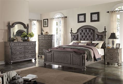 monticello dark gray poster bedroom set from new classic