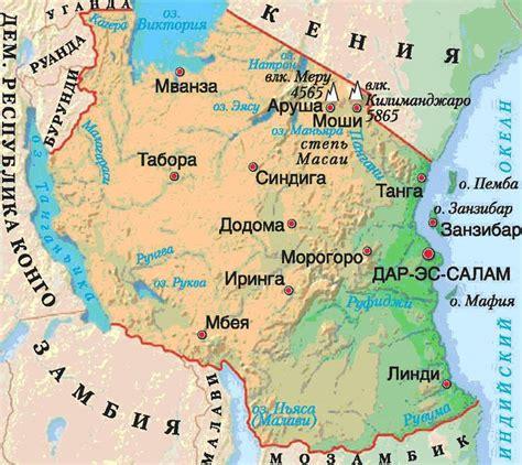 africa map tanzania index of country africa tanzania maps