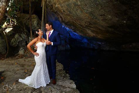trash the dress riviera maya cenote trash the dress erika and victor