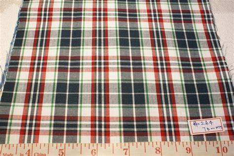 Patchwork Plaid - madras plaid fabric ultra quality patchwork
