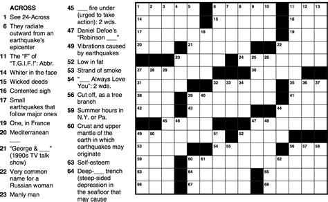 crossword puzzles emss earthquake crossword puzzle make learning