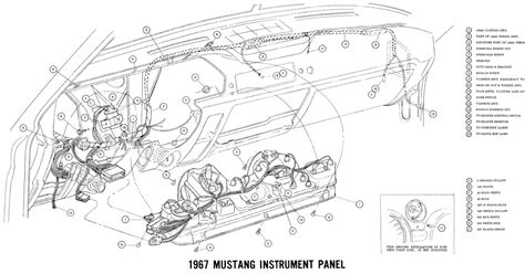 auto wiring diagram  ford mustang instrument panel