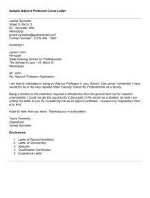 Cover Letter Professor Cover Letter 187 Cover Letter Adjunct Faculty Free Resume Cover And Resume Letter Sles