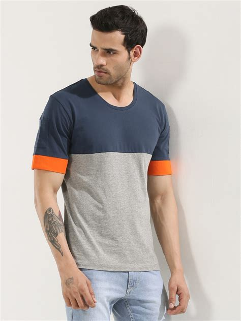 Sleeve Detail T Shirt buy koovs cut sew sleeve pocket detail t shirt for