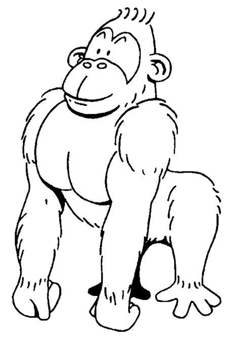 gorilla outline coloring page האתר הגדול בישראל לדפי צביעה להדפסה ואונליין באיכות מעולה