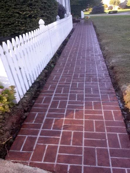steps  sidewalks  decorative concrete