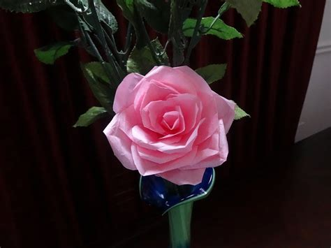 How To Make Roses With Tissue Paper - how to make tissue paper flower with wrapping method