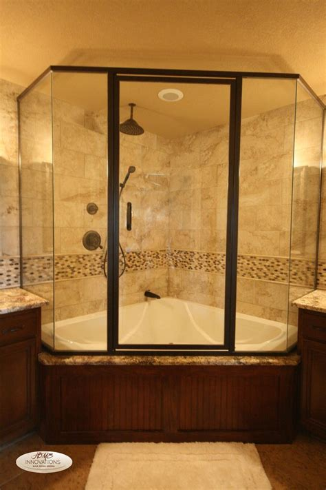 Bath Tub Shower Combo nice corner shower and bathtub combo with glass shower