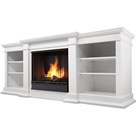 Real Flame Fresno Tv Stand Gel Fireplace In White G1200 W White Fireplace Tv Stand