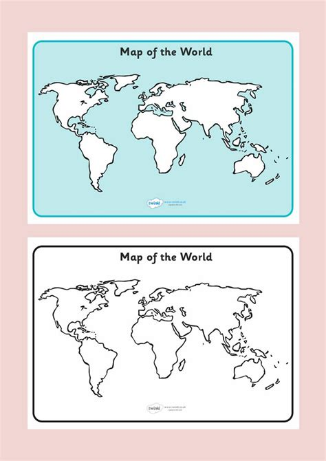 printable blank world map ks1 map of the world sheet free printable ks2 free download