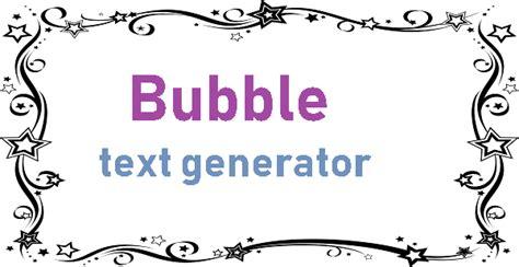 bubble text generator psfont tk