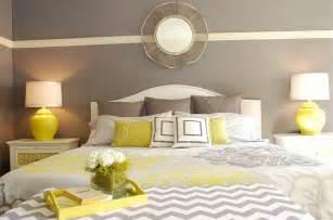 Yellow Gray Bedroom » New Home Design