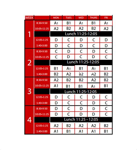 rotating schedule template sle rotation schedule template 15 free documents in