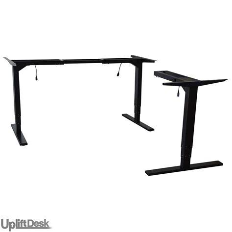 stand up height adjustable desk shop uplift 950 height adjustable 3 leg stand up desk bases