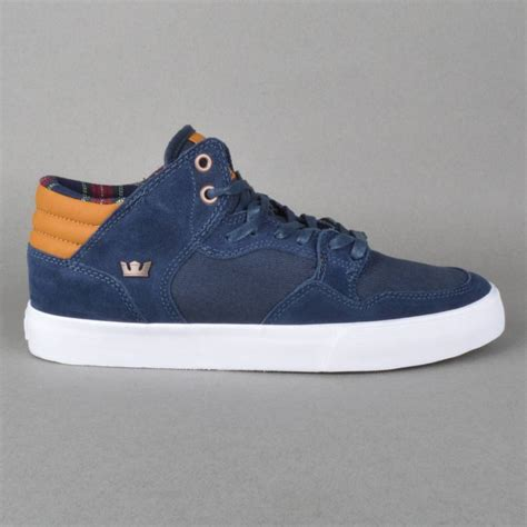 supra shoes for supra footwear shotgun skate shoes navy spice white