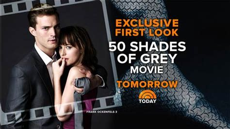 First Look At Fifty Shades Of Grey Leads As Film Pushed | nbc s today airs exclusive first look at 50 shades of grey