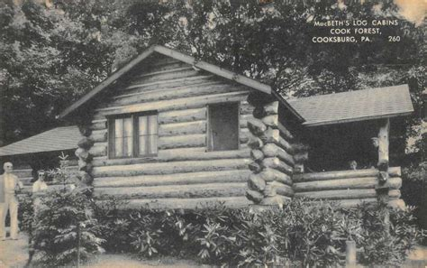 Macbeth Cabins by Cooksburg Pennsylvania Macbeths Log Cabins Cook Forest