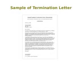 Subcontractor Termination Letter by Warning Letter To Contractor For Poor Performance Sle Termination Letter For Employee