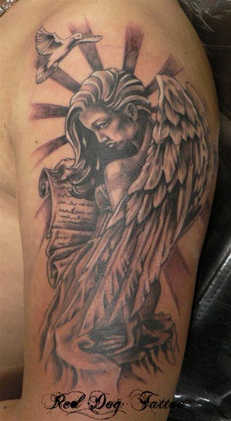 joses angel tattoo done at red dog tattoo benalmadena angel tattoos and designs