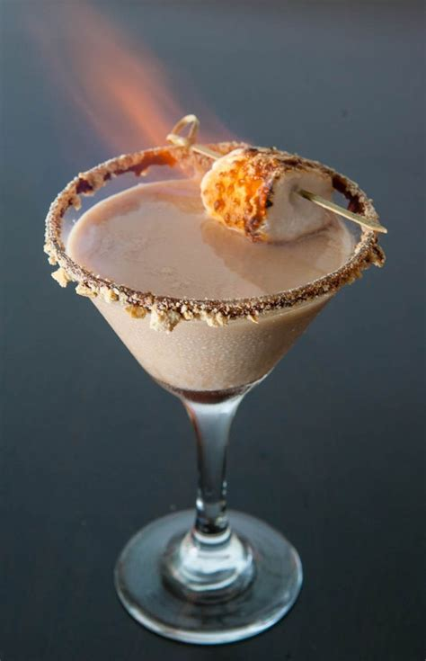 martini flaming eclectic recipes 187 flaming s mores martini drinks