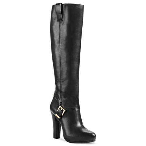 black high heel dress shoes michael kors tamara high heel dress boots in black black