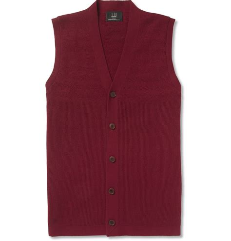 Real Pict Dress Sleeveless Dr1902 lyst dunhill ribbed sleeveless cardigan in for