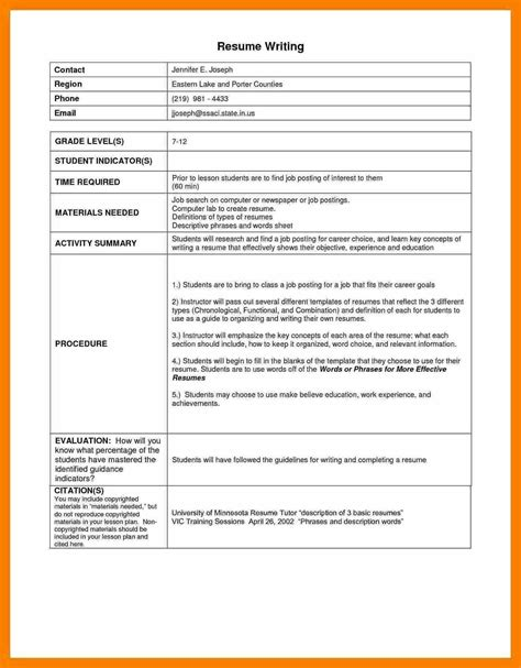 resume writing sle 7 indian style of writing a resume words list