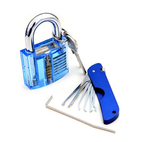 20psc Sided Padlock Picks Door Lock Opener Locksmith Tool by Other Gadgets Foldable Door Lock Opener With Transparent