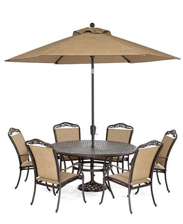 Beachmont Outdoor 7 Piece Set 60 Quot Round Dining Table And Beachmont Outdoor Patio Furniture
