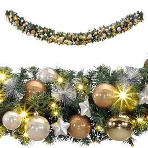 weihnachtsgirlande mit beleuchtung für innen deko geschm 252 ckte weihnachtsgirlande 270 cm dekoration