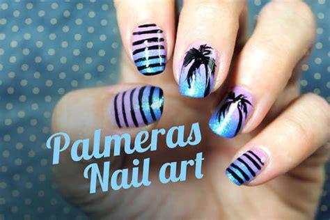 fotos de uñas decoradas 2015 faciles u 241 as decoradas con palmeras paso a paso nailistas u 241 as