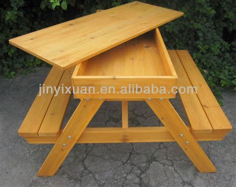 outdoor table with bench 25 best ideas about wooden picnic tables on pinterest picnic tables kids wooden