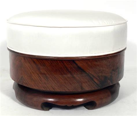 rosewood and silk stool for sale at 1stdibs