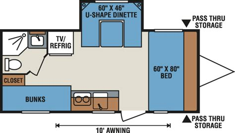 spree rv floor plans k z recreational vehicles spree 174 escape e196s