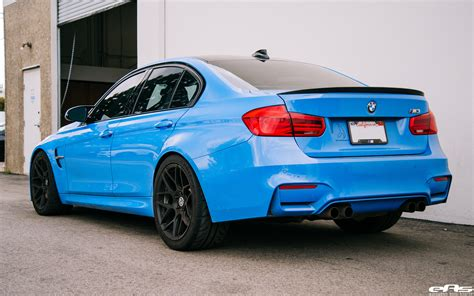 Bmw M3 Blue by Yas Marina Blue Bmw M3 Gets Some Racing Upgrades