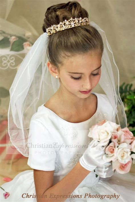 communion crown veil  ccdfirst communion