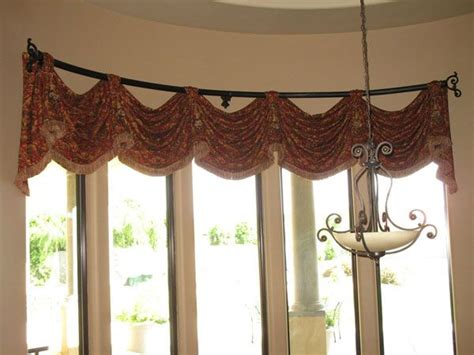 swag curtains for bay windows window treatments for bay windows 5 options for bay