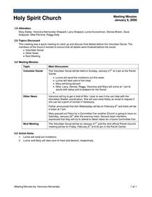 Business Meeting Minutes Template Best Photos Of Church Minutes Example Church Meeting