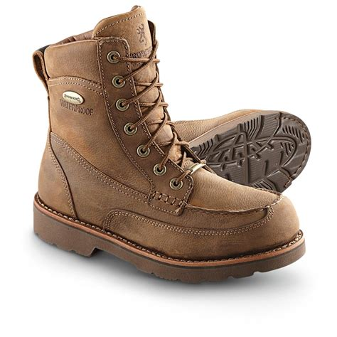 browning boots s browning 174 8 quot waterproof upland boots brown 226469
