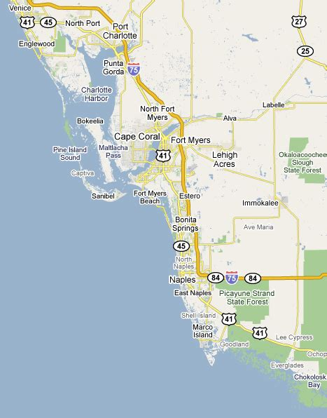map of southwest florida southwest florida map my