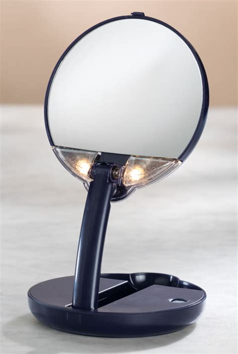 Lighted Travel Mirror Lighted Travel Makeup Mirror 15x Magnifying Mirror As