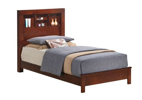 twin bed with bookcase headboard flax furniture irvington nj cherry twin bed w bookcase