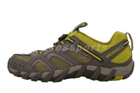 merrell vibram running shoes merrell waterpro trek grey green mens outdoors hiking