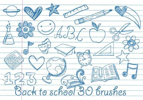 doodle academy drawings school doodles brushes free photoshop brushes at brusheezy