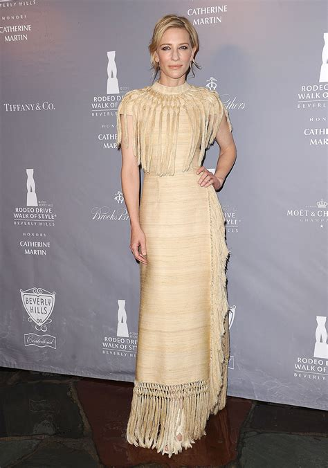 Catwalk To Carpet Cate Blanchett Carpet Style Awards by Cate Blanchett In Fringed Valentino At The 2014 Rodeo
