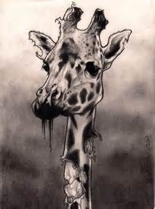 zombie giraffe by beccaface on deviantart