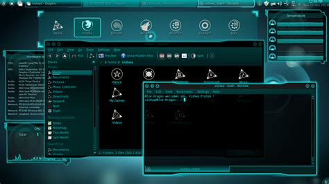 kde desktop themes location the linux lover tron like theme for my qiana kde